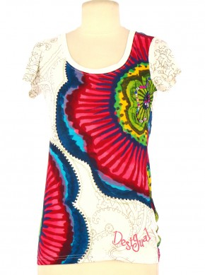 Tee-Shirt DESIGUAL Femme XS