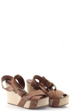 Chaussures Ballerines MAJE MARRON