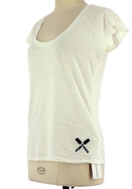 Vetements Tee-Shirt NAF NAF BLANC