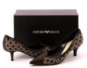 Chaussures Escarpins EMPORIO ARMANI MARRON