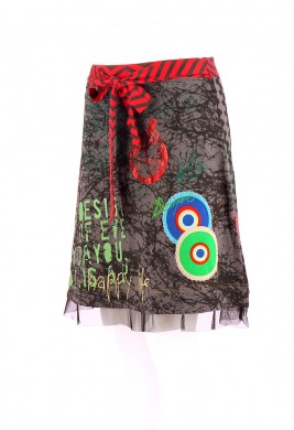 Vetements Jupe DESIGUAL MULTICOLORE