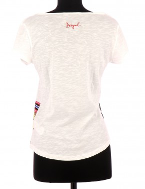 Vetements Tee-Shirt DESIGUAL BLANC