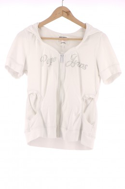 Vetements Gilet PEPE JEANS BLANC