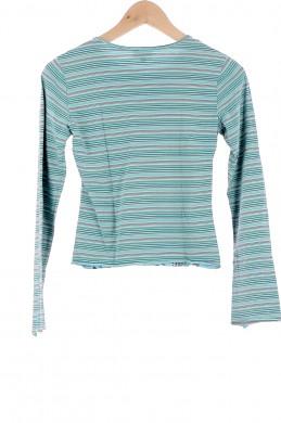 Vetements Tee-Shirt IKKS BLEU CLAIR
