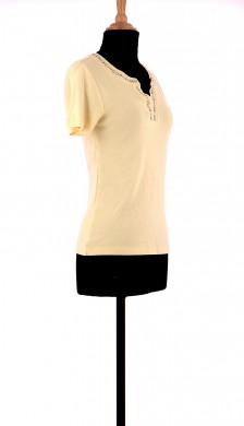 Vetements Tee-Shirt CAROLL JAUNE