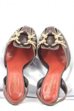 Chaussures Sandales YVES SAINT LAURENT CHOCOLAT