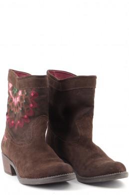 Chaussures Bottines / Low Boots DESIGUAL MARRON