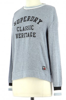 Vetements Sweat SUPERDRY BLEU