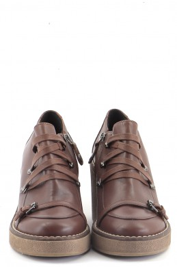 Chaussures Derbies GEOX MARRON
