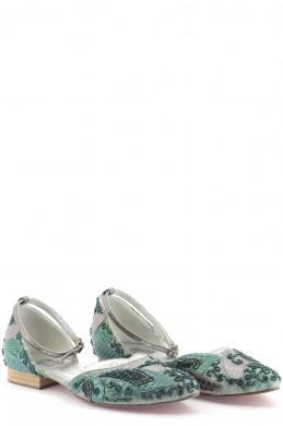 Chaussures Ballerines ARMAND VENTILO VERT FONCé