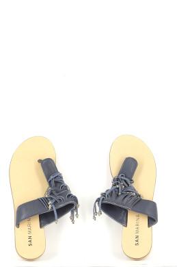 Chaussures Mules SAN MARINA BLEU MARINE