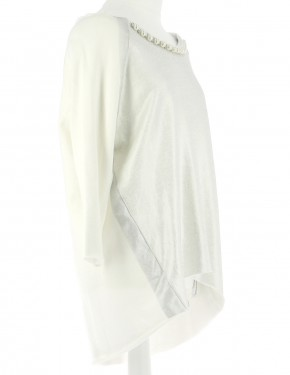 Vetements Pull TWINSET BLANC