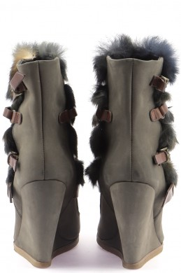 Chaussures Bottines / Low Boots MAJE MARRON