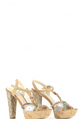 Chaussures Sandales GUESS MARRON