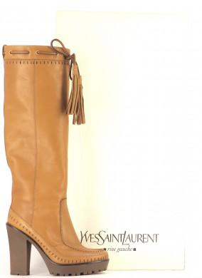 Chaussures Bottes YVES SAINT LAURENT MARRON