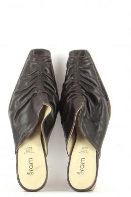 Chaussures Mules ERAM MARRON