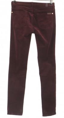 Vetements Pantalon 7 FOR ALL MANKIND BORDEAUX