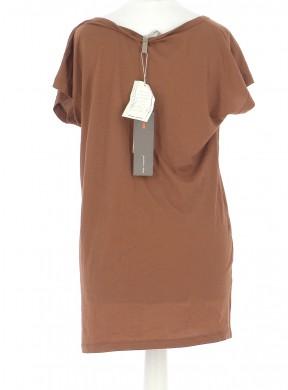 Vetements Tee-Shirt COP COPINE KAKI