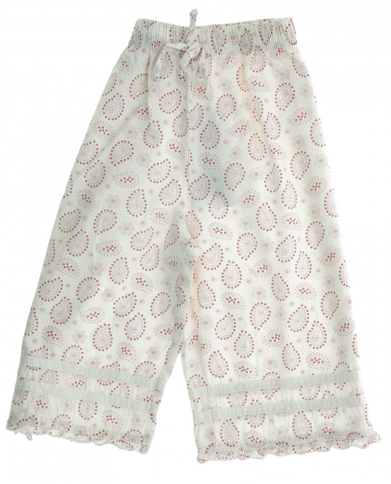 Vetements Pantalon CYRILLUS BLANC