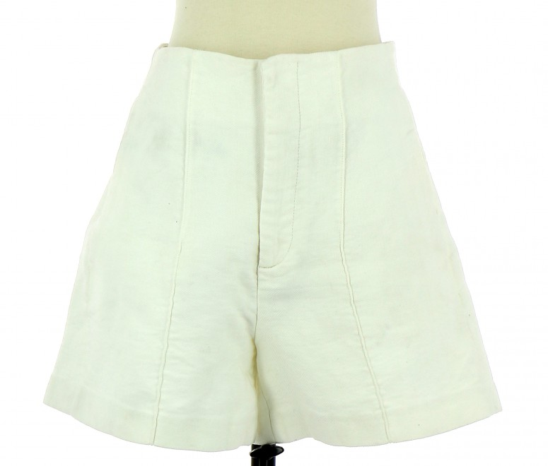 Vetements Short ZARA BLANC