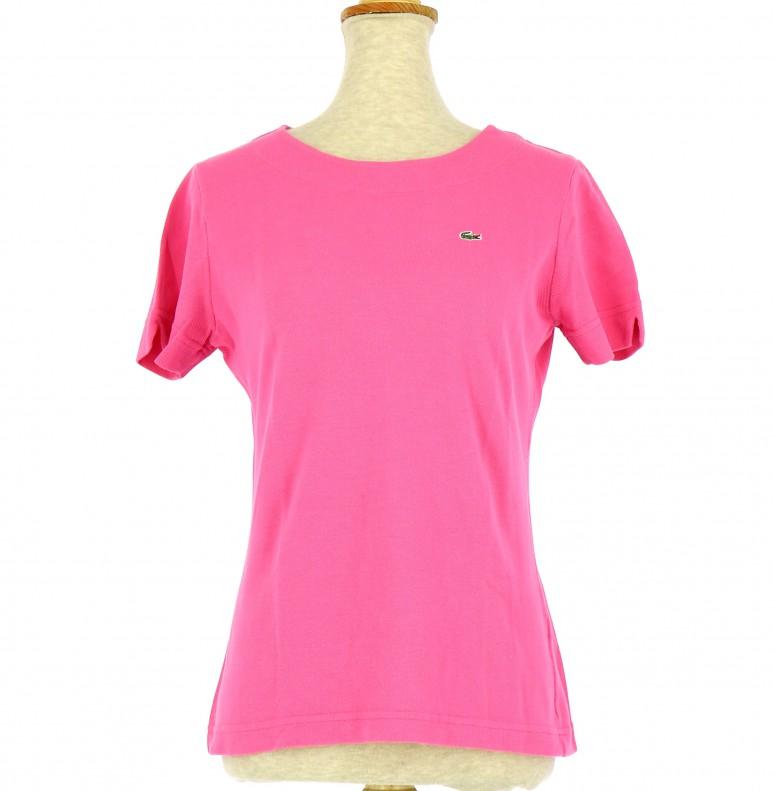 6b3a520b81 Tee-Shirt LACOSTE Femme FR 38 pas cher en Achat - Vente