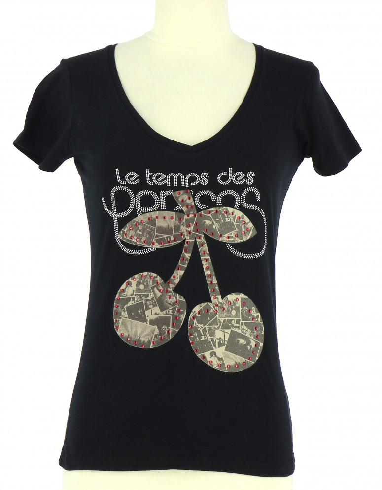 Vetements Tee-Shirt LE TEMPS DES CERISES NOIR