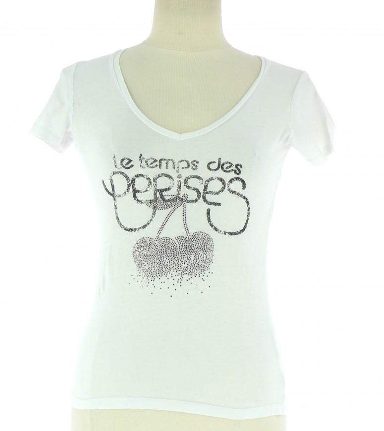 Vetements Tee-Shirt LE TEMPS DES CERISES BLANC