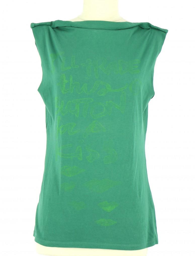 Vetements Tee-Shirt REPLAY VERT FONCé