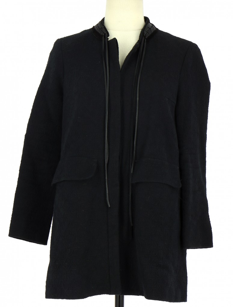 Vetements Manteau MAJE NOIR
