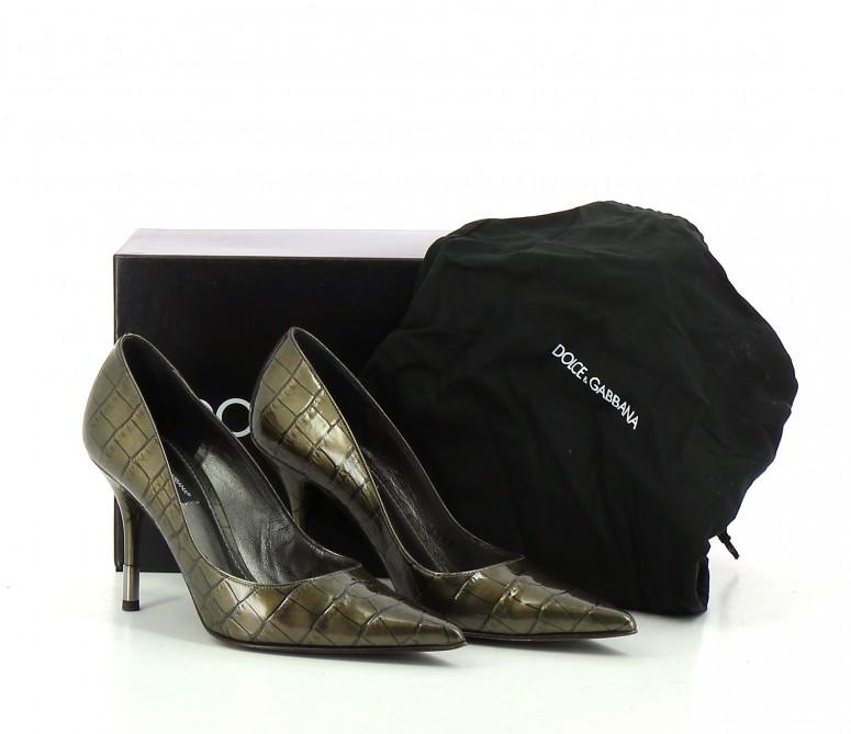 Chaussures Escarpins DOLCE & GABBANA VERT FONCé