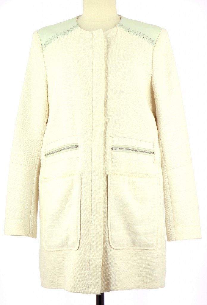 Vetements Manteau MAJE BLANC