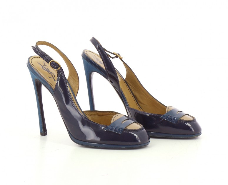 Chaussures Escarpins YVES SAINT LAURENT BLEU MARINE