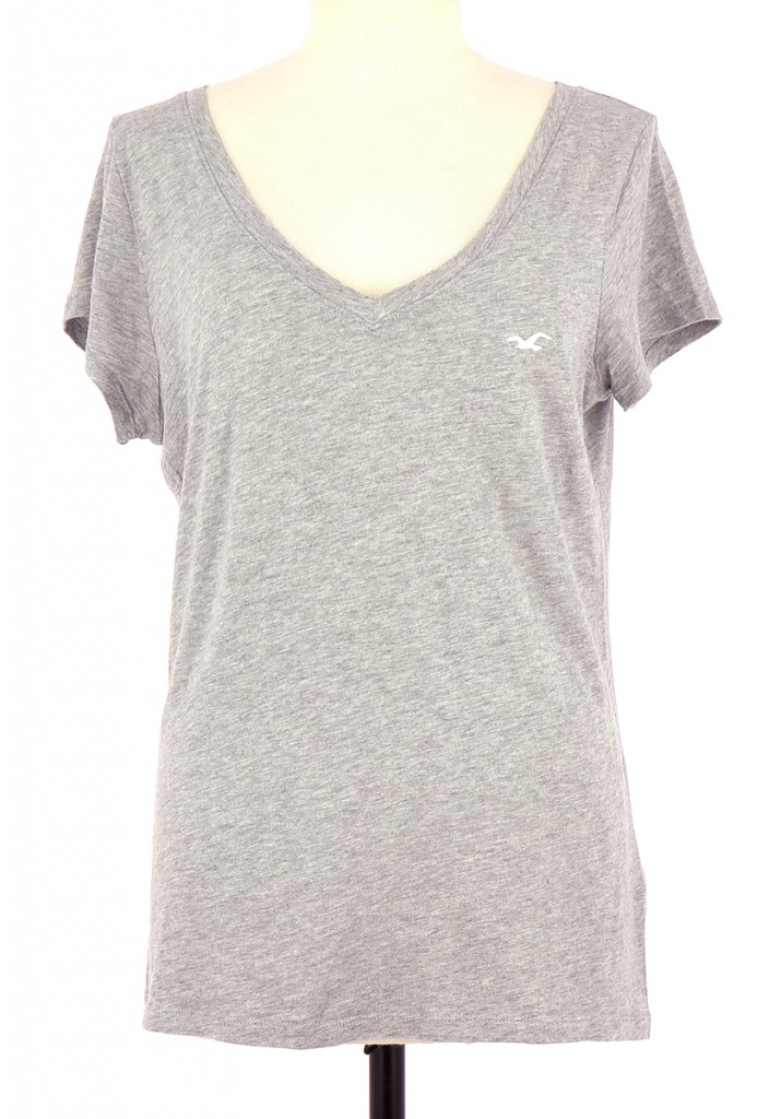 Vetements Tee-Shirt HOLLISTER GRIS