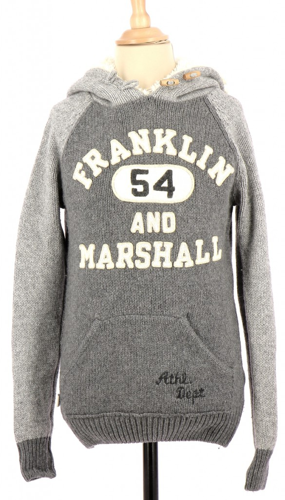 Vetements Pull FRANKLIN & MARSHALL GRIS