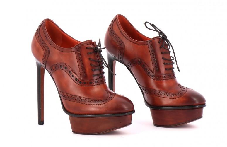 Chaussures Bottines / Low Boots SANTONI MARRON