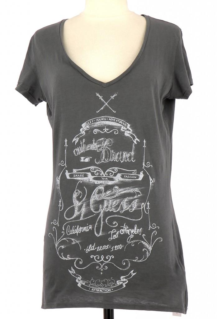 Vetements Tee-Shirt GUESS GRIS