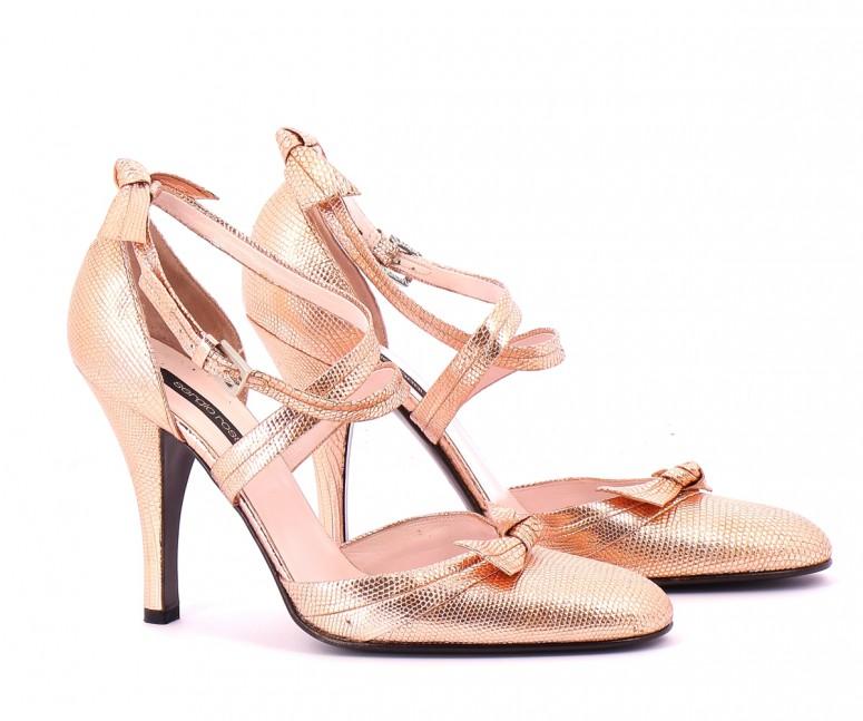 Chaussures Escarpins SERGIO ROSSI  OR