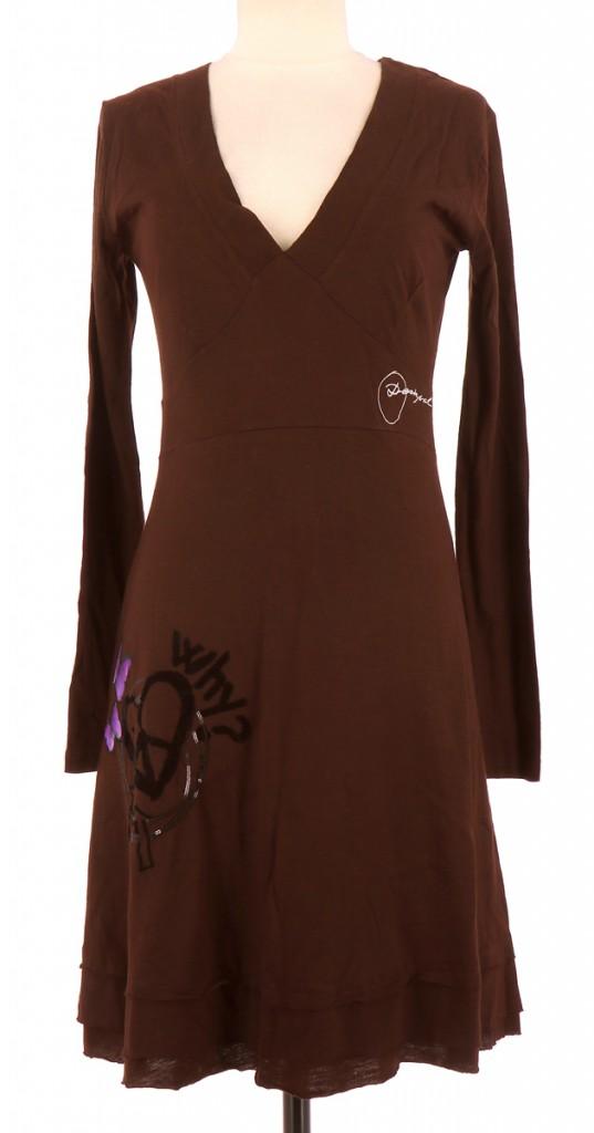 Vetements Robe DESIGUAL CHOCOLAT