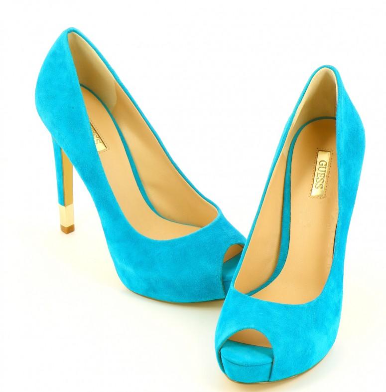 Chaussures Escarpins GUESS BLEU CLAIR