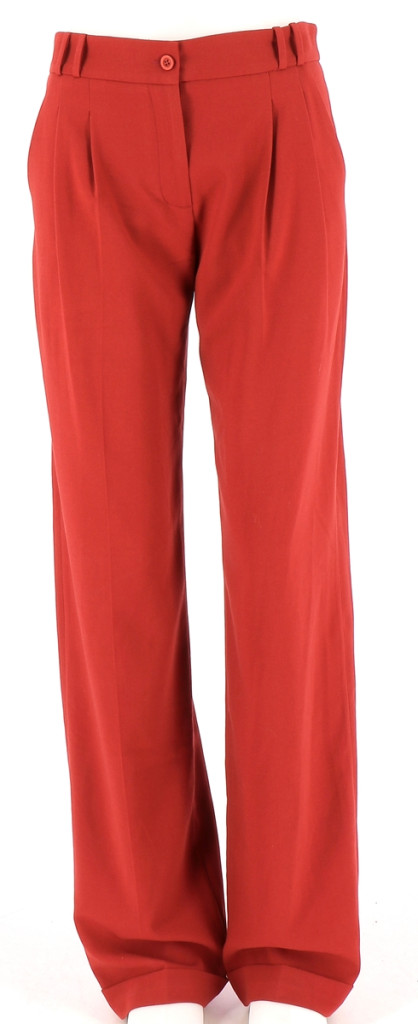 Vetements Pantalon BISCOTE ROUGE