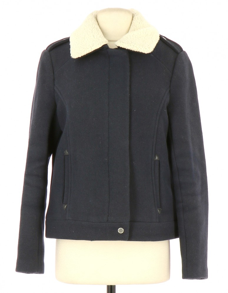 Vetements Manteau KARL MARC JOHN BLEU MARINE