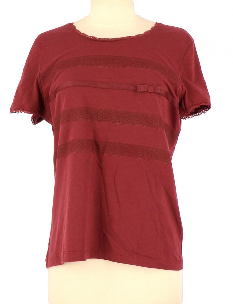 Vetements Tee-Shirt CYRILLUS BORDEAUX