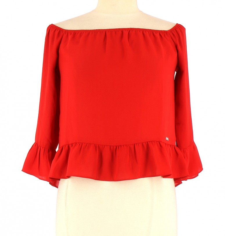 Vetements Top GUESS ROUGE