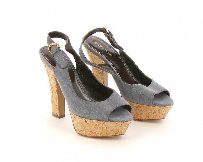 Chaussures Escarpins SERGIO ROSSI  BLEU