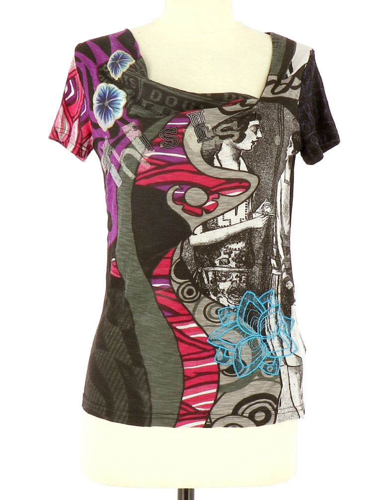 Vetements Tee-Shirt DESIGUAL GRIS
