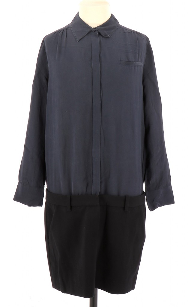 Vetements Robe MAJE BLEU MARINE