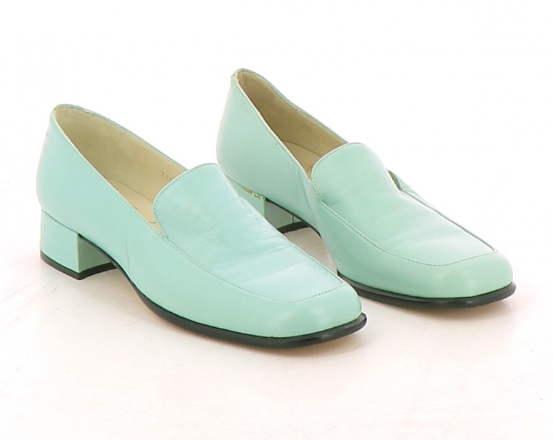 Chaussures Mocassins HEYRAUD TURQUOISE