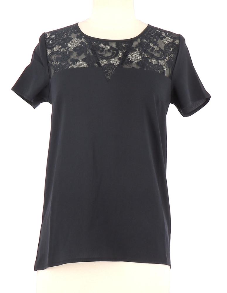 Vetements Tee-Shirt CYRILLUS BLEU MARINE