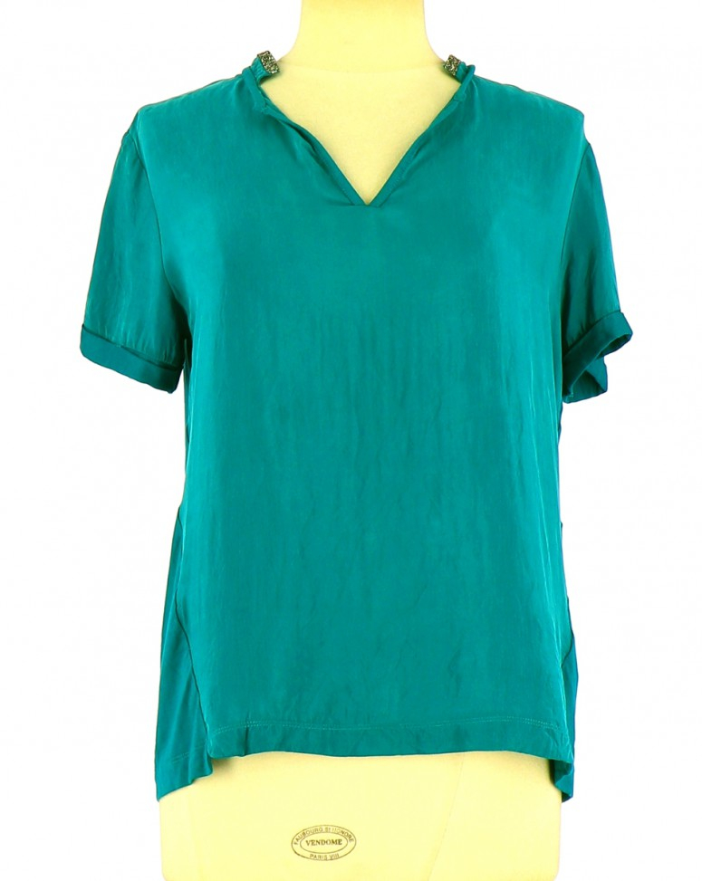 Vetements Top ONE STEP TURQUOISE