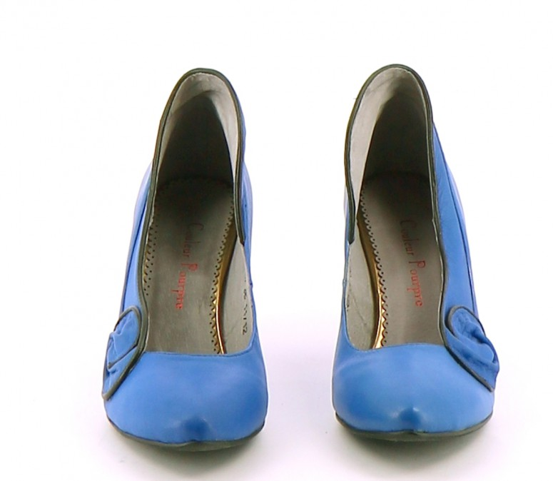 Chaussures Escarpins COULEUR POURPRE BLEU